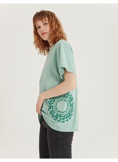 BGN Su Yeşili - Baskılı T-Shirt Yeşil